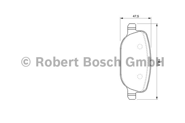 Kit de plaquettes de frein, frein à disque - BOSCH - 0 986 424 775