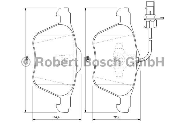 Kit de plaquettes de frein, frein à disque - BOSCH - 0 986 424 777