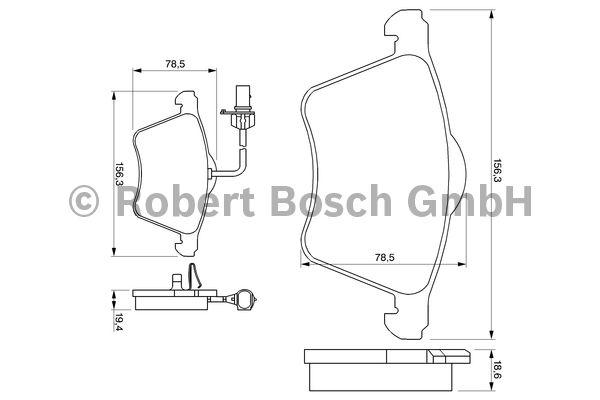 Kit de plaquettes de frein, frein à disque - BOSCH - 0 986 424 780