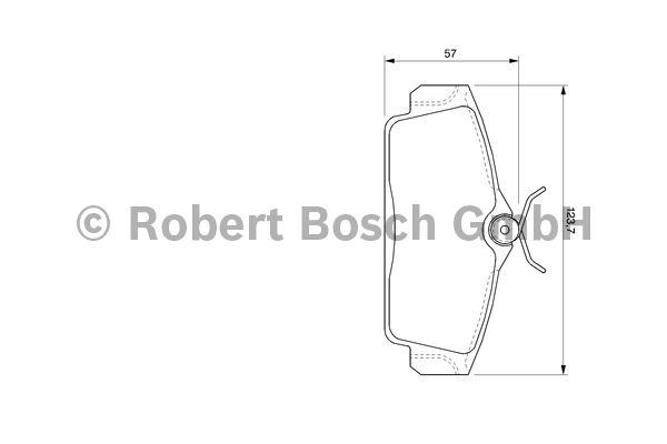 Kit de plaquettes de frein, frein à disque - BOSCH - 0 986 424 781