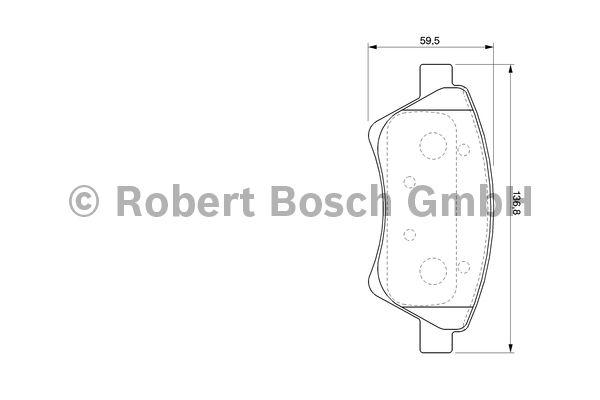 Kit de plaquettes de frein, frein à disque - BOSCH - 0 986 424 785