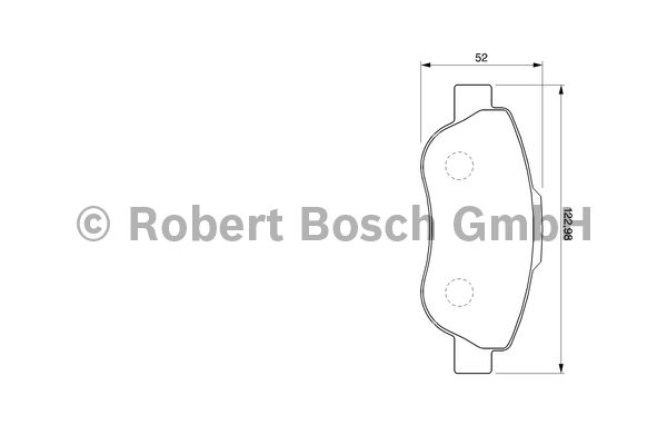 Kit de plaquettes de frein, frein à disque - BOSCH - 0 986 424 786