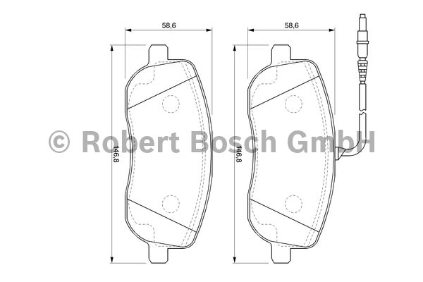 Kit de plaquettes de frein, frein à disque - BOSCH - 0 986 424 789
