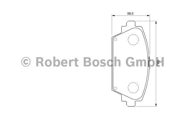 Kit de plaquettes de frein, frein à disque - BOSCH - 0 986 424 791
