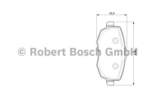 Kit de plaquettes de frein, frein à disque - BOSCH - 0 986 424 793