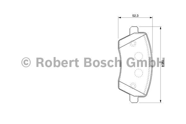 Kit de plaquettes de frein, frein à disque - BOSCH - 0 986 424 795