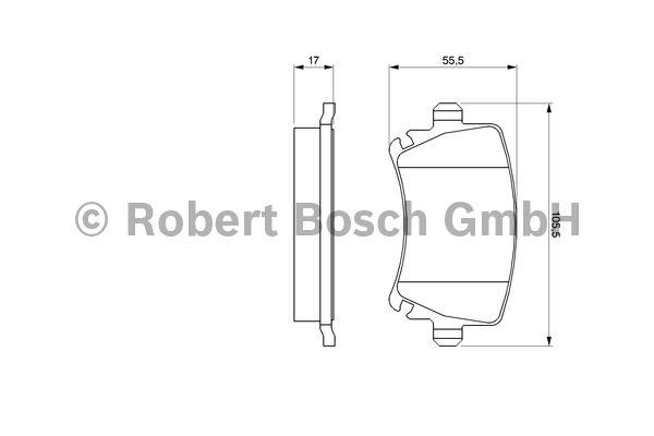 Kit de plaquettes de frein, frein à disque - BOSCH - 0 986 494 053