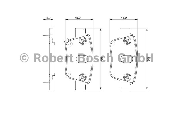 Kit de plaquettes de frein, frein à disque - BOSCH - 0 986 424 798