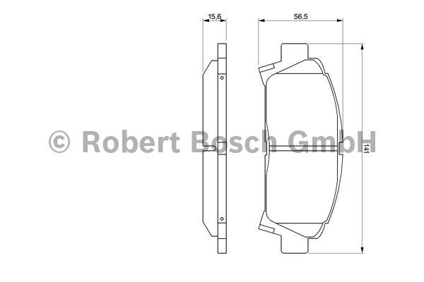 Kit de plaquettes de frein, frein à disque - BOSCH - 0 986 424 799
