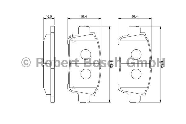 Kit de plaquettes de frein, frein à disque - BOSCH - 0 986 424 803