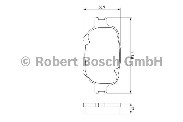 Kit de plaquettes de frein, frein à disque - BOSCH - 0 986 424 808
