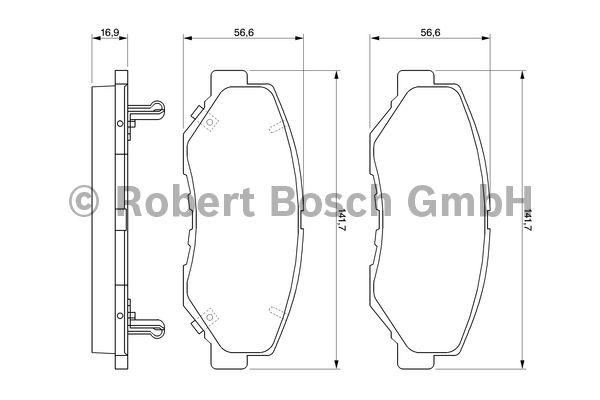 Kit de plaquettes de frein, frein à disque - BOSCH - 0 986 424 809