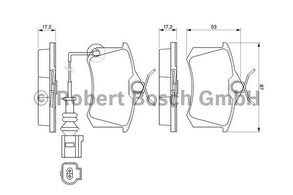 Kit de plaquettes de frein, frein à disque - BOSCH - 0 986 424 813