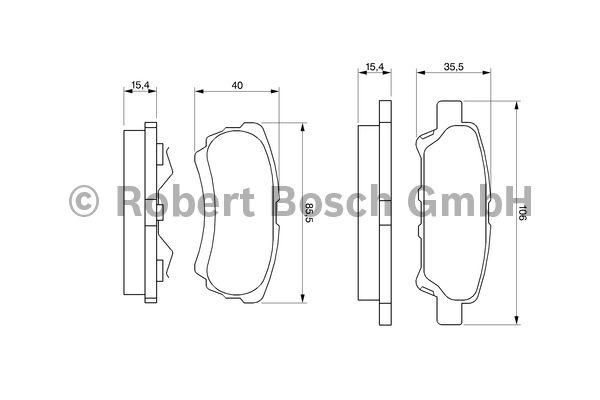 Kit de plaquettes de frein, frein à disque - BOSCH - 0 986 424 814