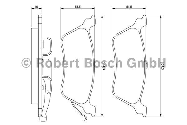Kit de plaquettes de frein, frein à disque - BOSCH - 0 986 424 816