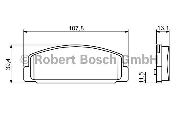 Kit de plaquettes de frein, frein à disque - BOSCH - 0 986 424 817