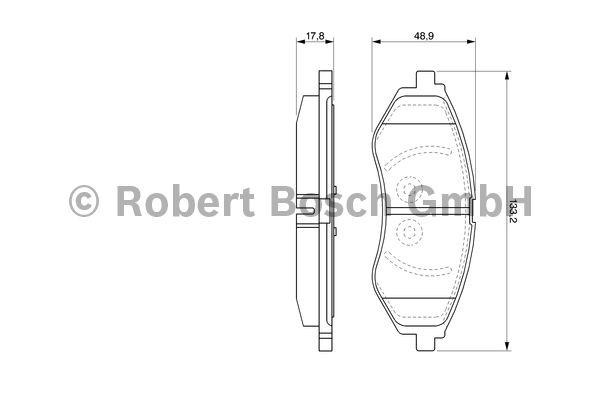 Kit de plaquettes de frein, frein à disque - BOSCH - 0 986 424 818