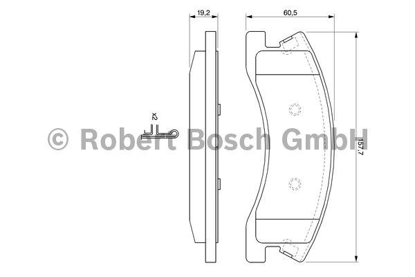Kit de plaquettes de frein, frein à disque - BOSCH - 0 986 424 823