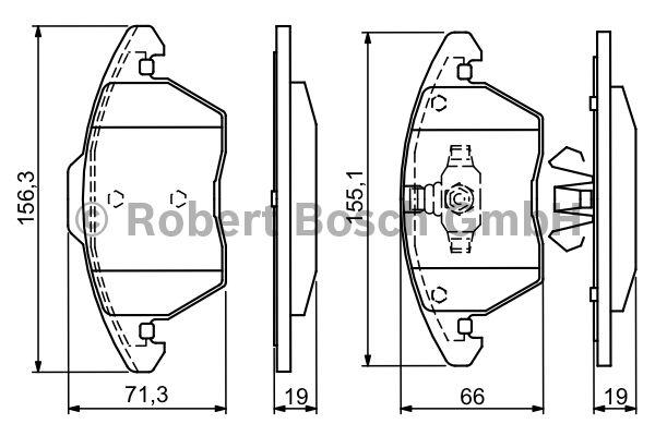 Kit de plaquettes de frein, frein à disque - BOSCH - 0 986 424 825