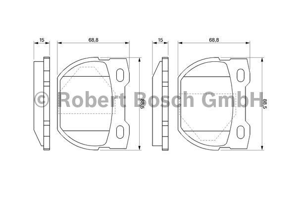 Kit de plaquettes de frein, frein à disque - BOSCH - 0 986 424 827