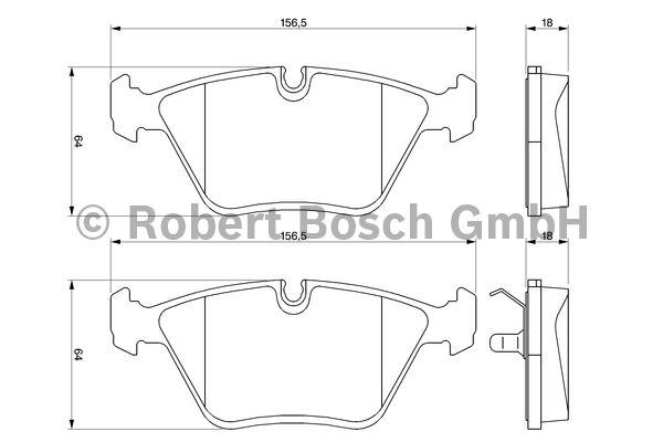 Kit de plaquettes de frein, frein à disque - BOSCH - 0 986 424 828
