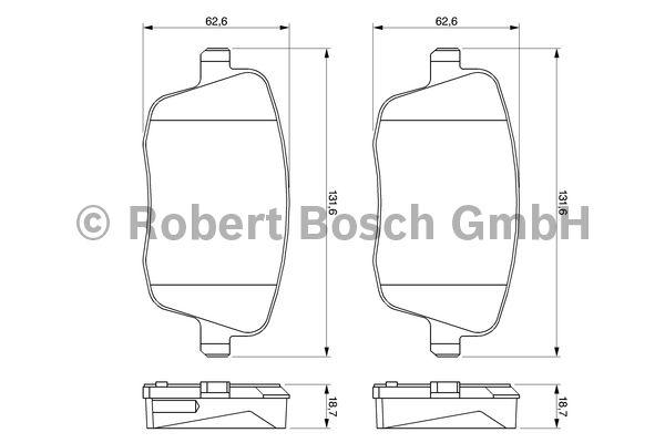 Kit de plaquettes de frein, frein à disque - BOSCH - 0 986 424 829