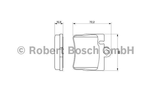 Kit de plaquettes de frein, frein à disque - BOSCH - 0 986 424 830