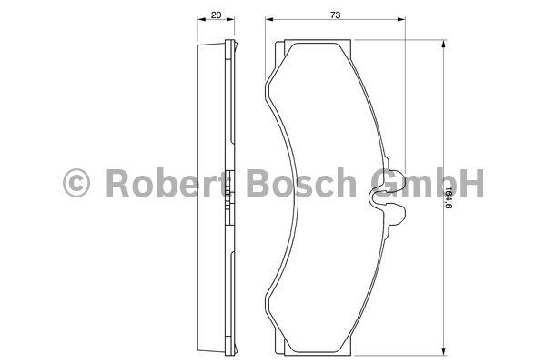 Kit de plaquettes de frein, frein à disque - BOSCH - 0 986 424 832