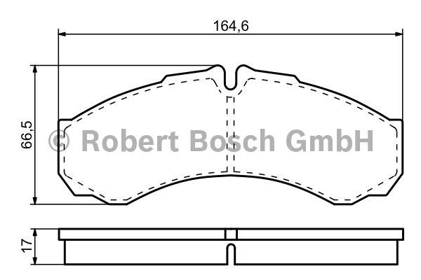 Kit de plaquettes de frein, frein à disque - BOSCH - 0 986 424 833