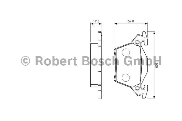 Kit de plaquettes de frein, frein à disque - BOSCH - 0 986 460 002