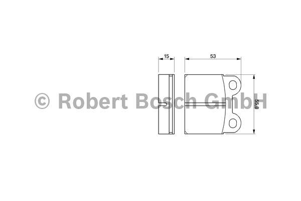 Kit de plaquettes de frein, frein à disque - BOSCH - 0 986 460 101