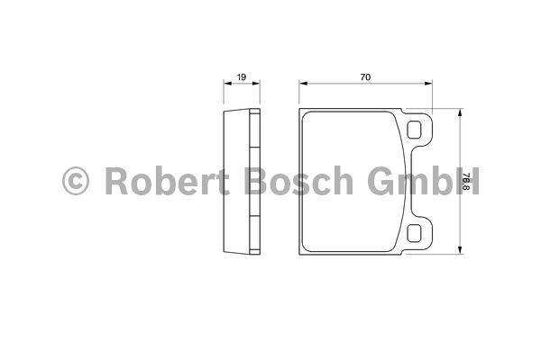 Kit de plaquettes de frein, frein à disque - BOSCH - 0 986 460 111