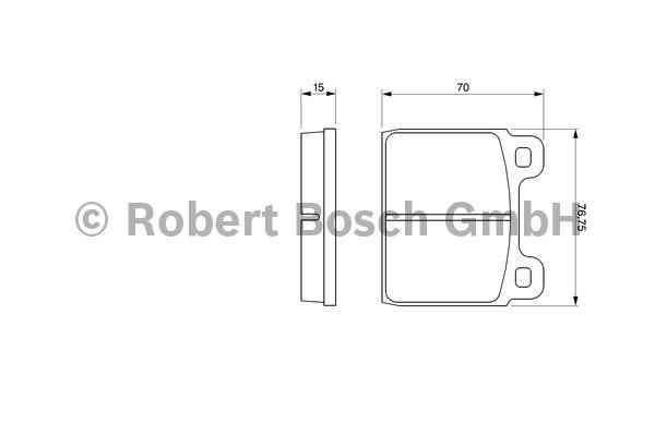 Kit de plaquettes de frein, frein à disque - BOSCH - 0 986 460 113