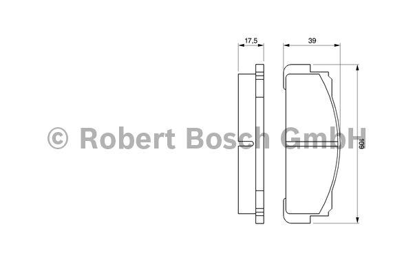 Kit de plaquettes de frein, frein à disque - BOSCH - 0 986 460 736