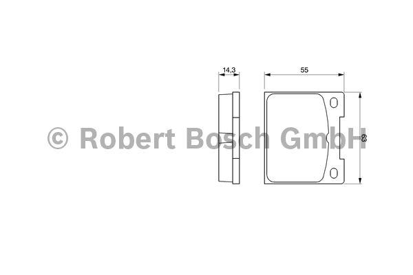 Kit de plaquettes de frein, frein à disque - BOSCH - 0 986 460 881