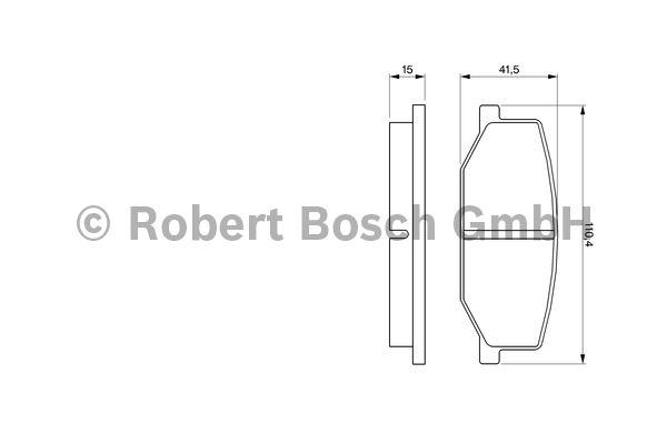 Kit de plaquettes de frein, frein à disque - BOSCH - 0 986 460 935