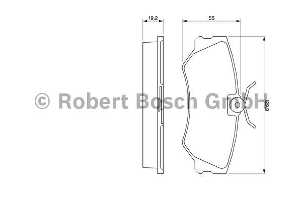 Kit de plaquettes de frein, frein à disque - BOSCH - 0 986 460 941