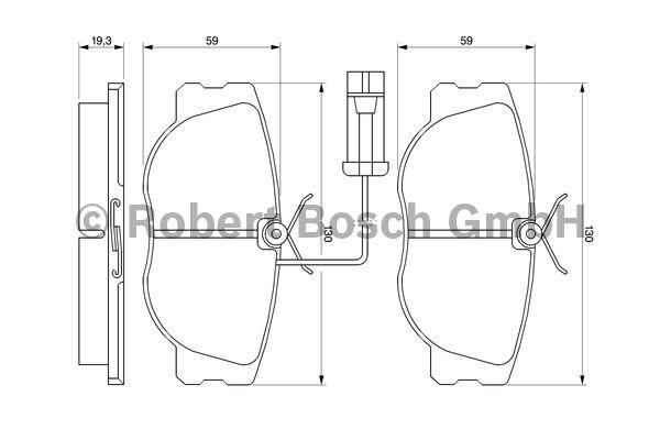 Kit de plaquettes de frein, frein à disque - BOSCH - 0 986 460 942