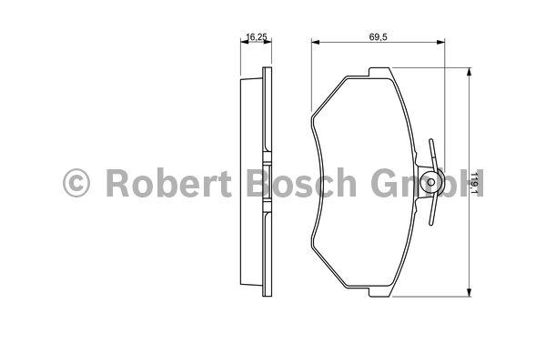 Kit de plaquettes de frein, frein à disque - BOSCH - 0 986 460 943