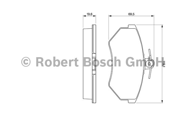 Kit de plaquettes de frein, frein à disque - BOSCH - 0 986 460 944