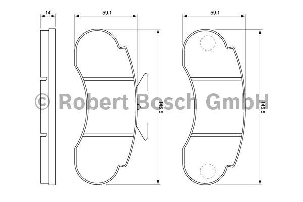 Kit de plaquettes de frein, frein à disque - BOSCH - 0 986 460 947