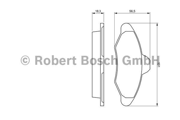 Kit de plaquettes de frein, frein à disque - BOSCH - 0 986 460 949