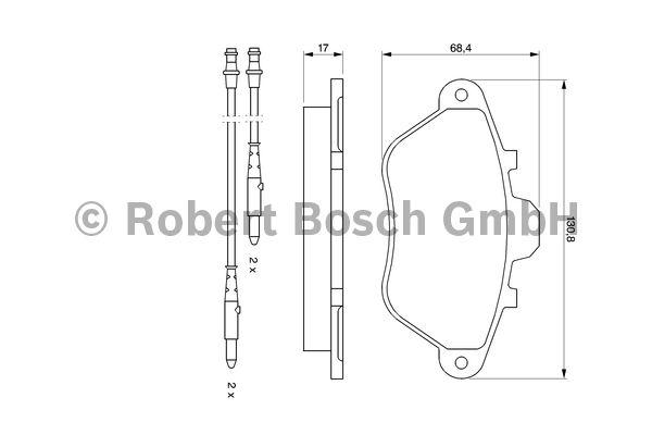 Kit de plaquettes de frein, frein à disque - BOSCH - 0 986 460 950