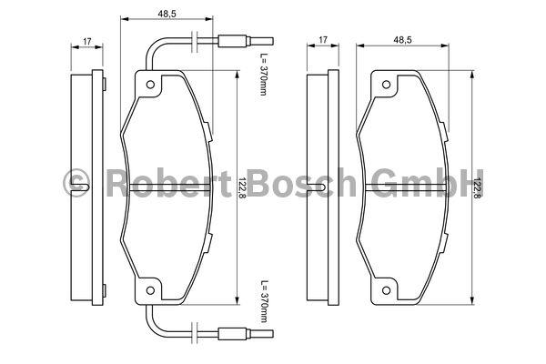 Kit de plaquettes de frein, frein à disque - BOSCH - 0 986 460 953