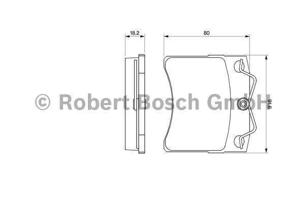 Kit de plaquettes de frein, frein à disque - BOSCH - 0 986 460 954
