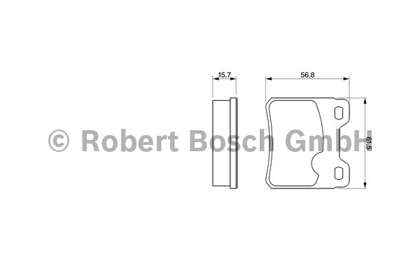 Kit de plaquettes de frein, frein à disque - BOSCH - 0 986 460 955