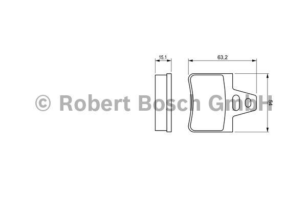 Kit de plaquettes de frein, frein à disque - BOSCH - 0 986 460 958