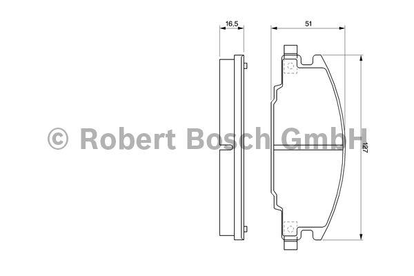 Kit de plaquettes de frein, frein à disque - BOSCH - 0 986 460 960