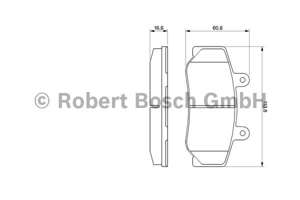 Kit de plaquettes de frein, frein à disque - BOSCH - 0 986 460 961