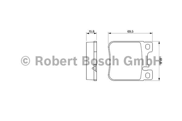 Kit de plaquettes de frein, frein à disque - BOSCH - 0 986 460 965